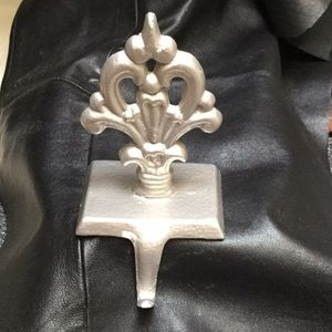 Fleur de lis Cast Iron Hook or Holder